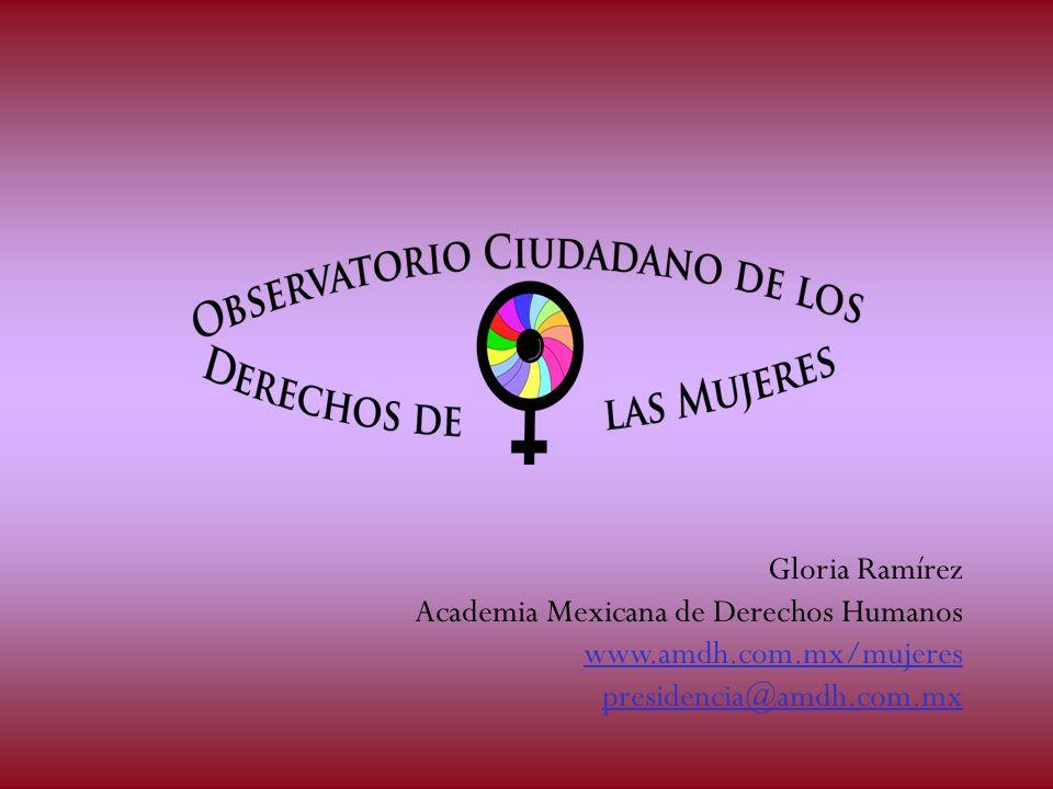 Gloria Ramírez Academia Mexicana de Derechos Humanos www.amdh.com.mx/mujeres presidencia@amdh.com.mx