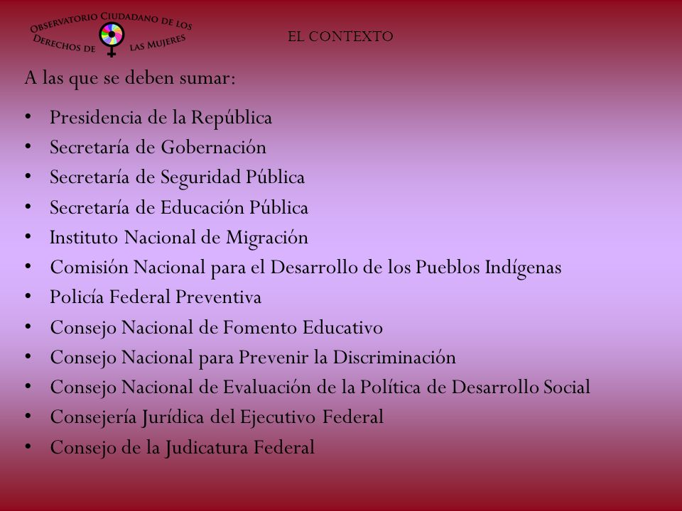Algunos resultados del Observatorio Ciudadano de los Derechos de las Mujeres