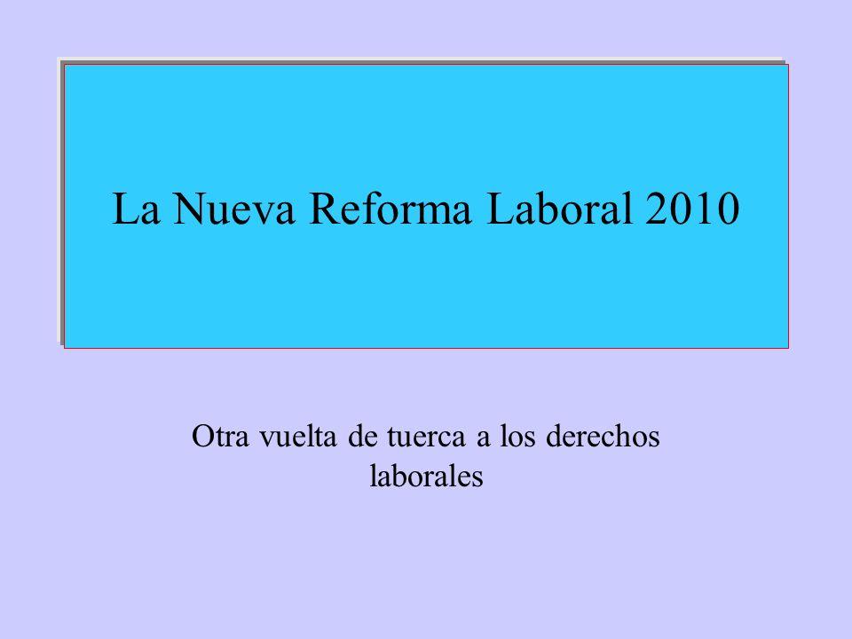 La Nueva Reforma Laboral 2010 Otra vuelta de tuerca a los derechos laborales