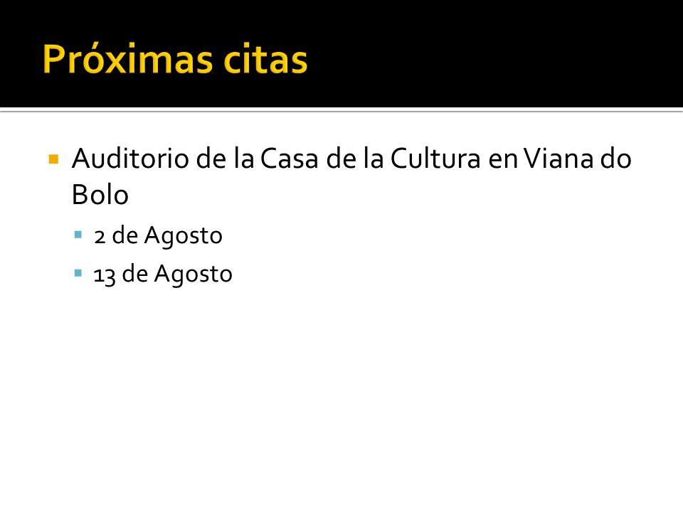 Auditorio de la Casa de la Cultura en Viana do Bolo 2 de Agosto 13 de Agosto