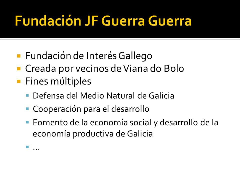 Fundación de Interés Gallego Creada por vecinos de Viana do Bolo Fines múltiples Defensa del Medio Natural de Galicia Cooperación para el desarrollo Fomento de la economía social y desarrollo de la economía productiva de Galicia …