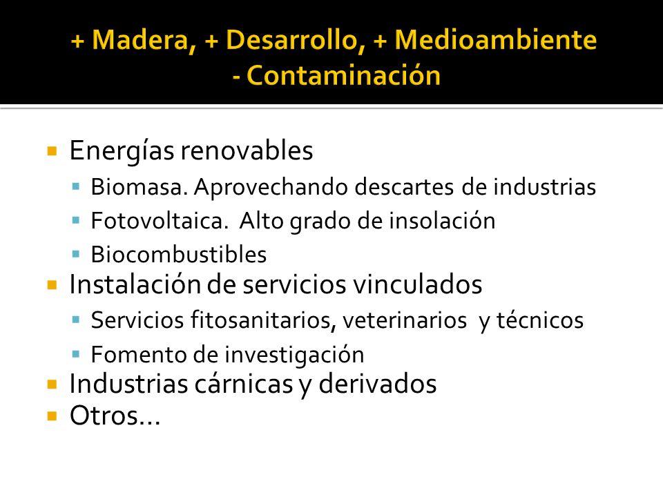 Energías renovables Biomasa. Aprovechando descartes de industrias Fotovoltaica.