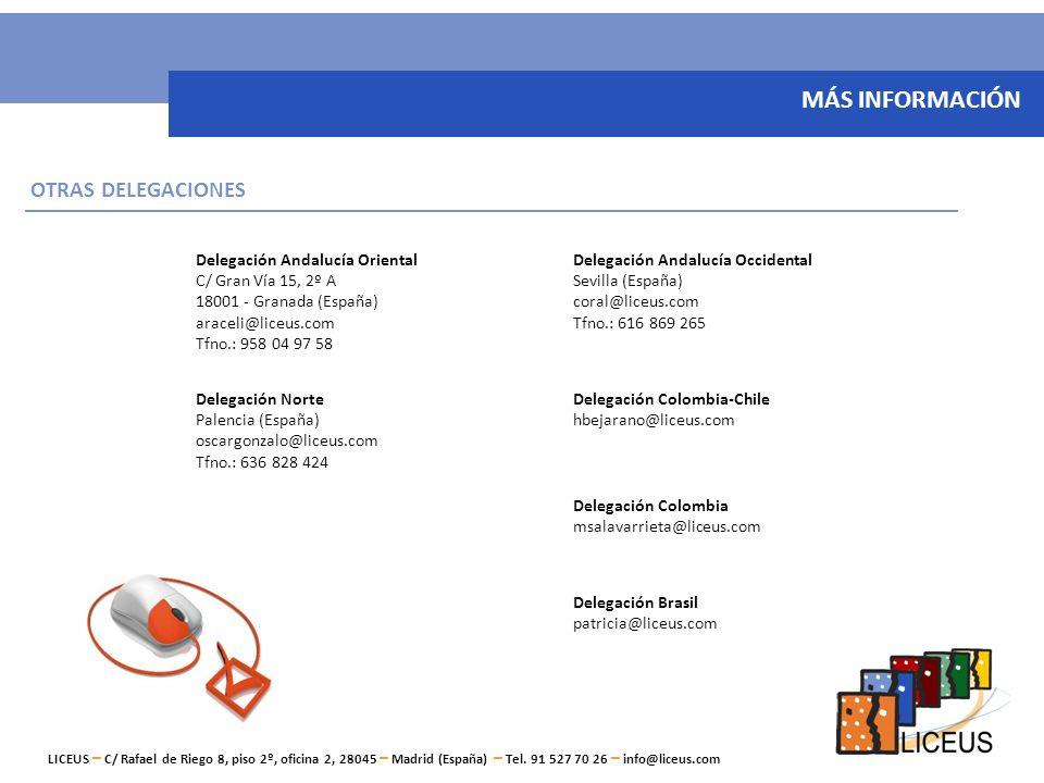 LICEUS, Servicios de Gestión y Comunicación S.L. C/ Rafael de Riego 8, piso 2º, oficina 2, 28045 – Madrid (España) Tel. 91 527 70 26 - info@liceus.com