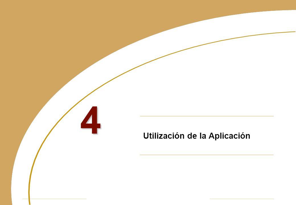 Utilización de la Aplicación 4