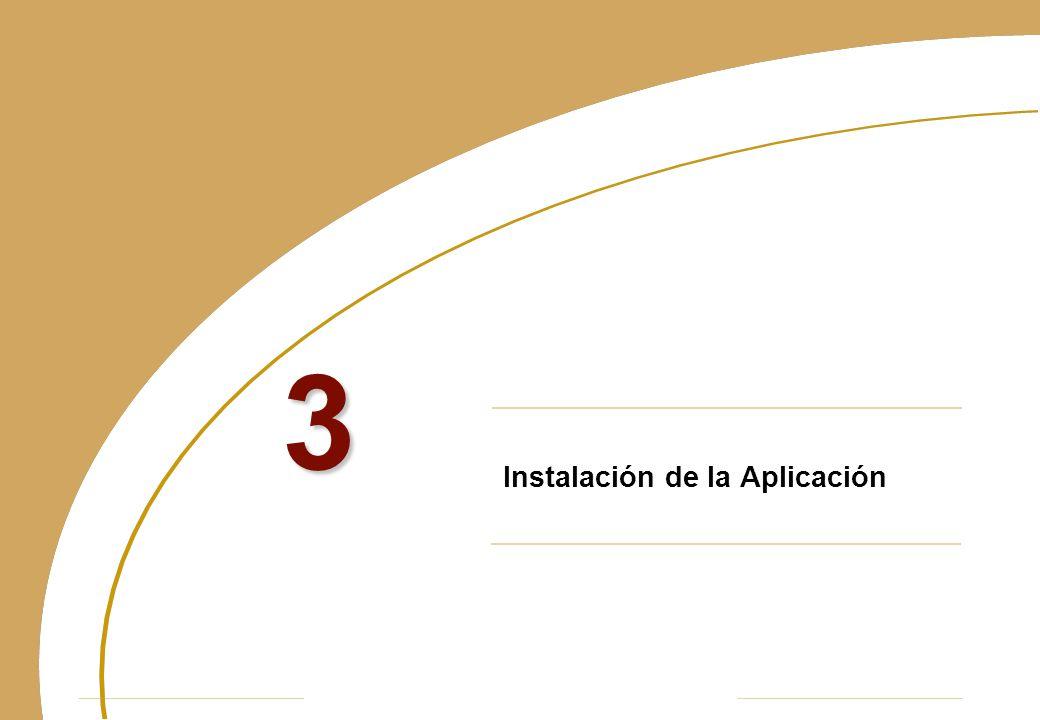 Instalación de la Aplicación 3