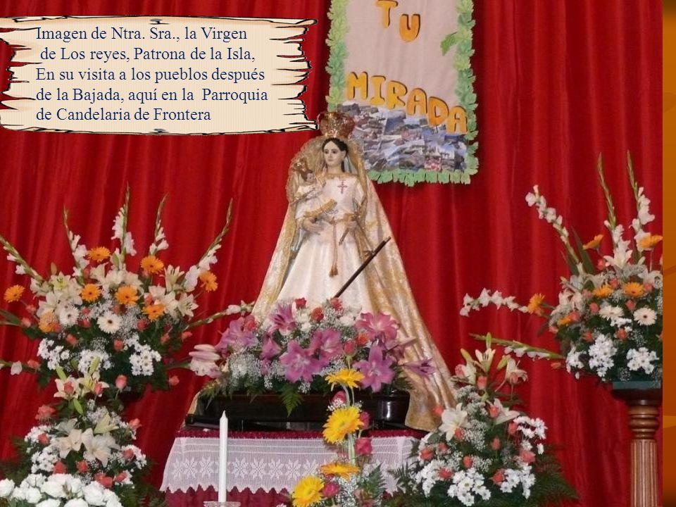 Uno de los puntos más esperados de la Bajada de la Virgen de Los Reyes, a escasos dos kilómetros de Malpaso, donde la Virgen y su comitiva llegan a es
