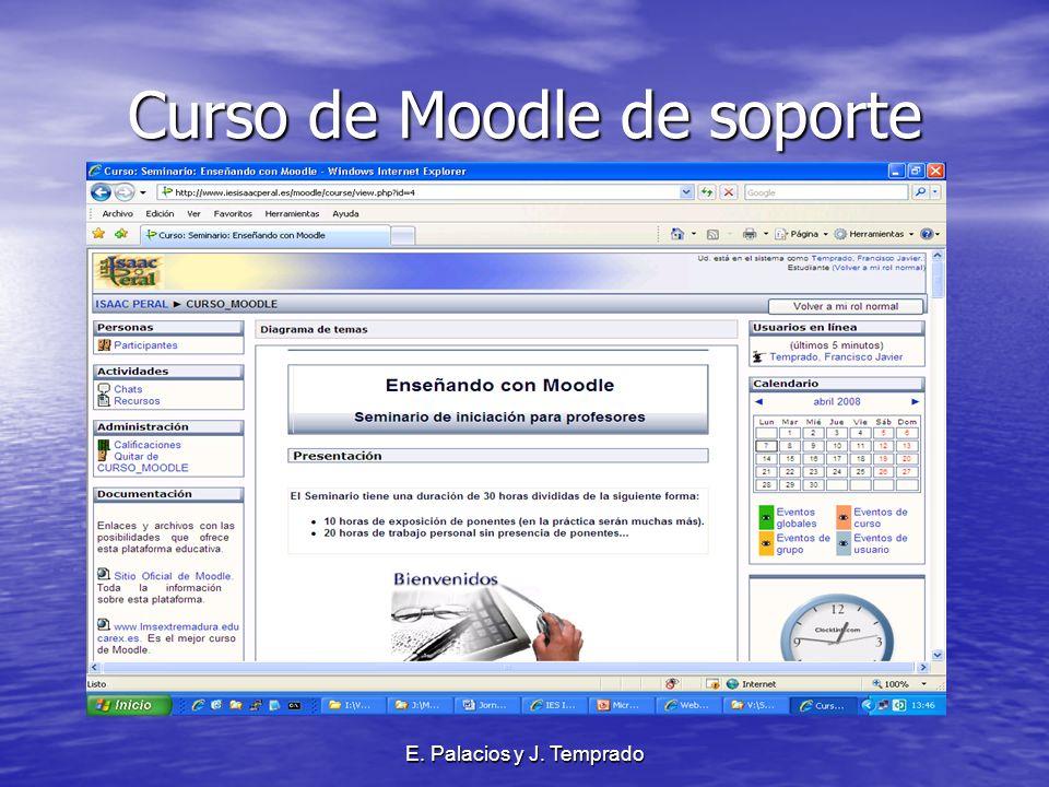 E. Palacios y J. Temprado Curso de Moodle de soporte
