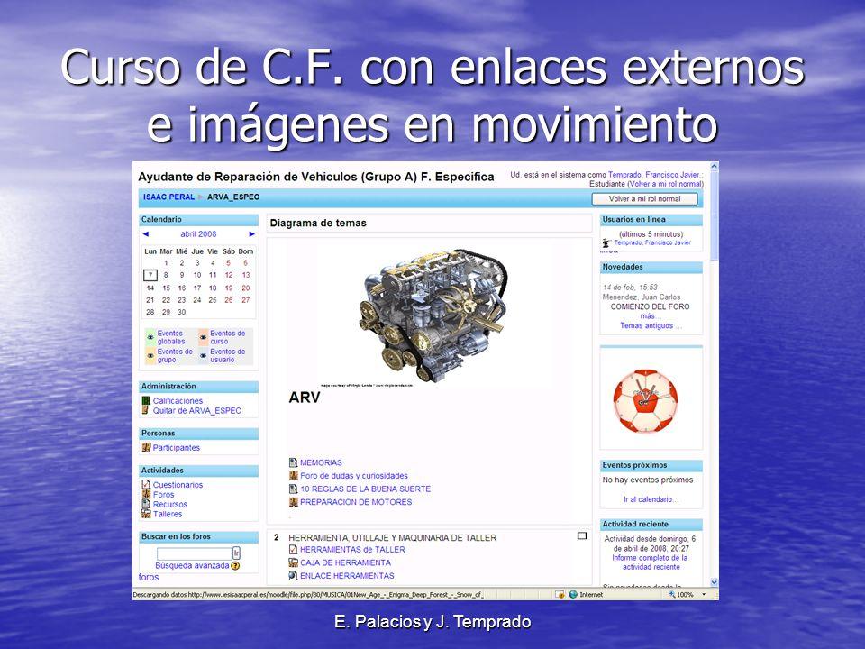 E. Palacios y J. Temprado Curso de C.F. con enlaces externos e imágenes en movimiento