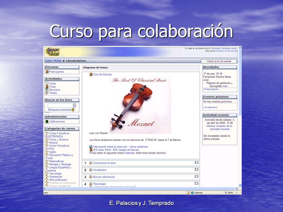 E. Palacios y J. Temprado Curso para colaboración
