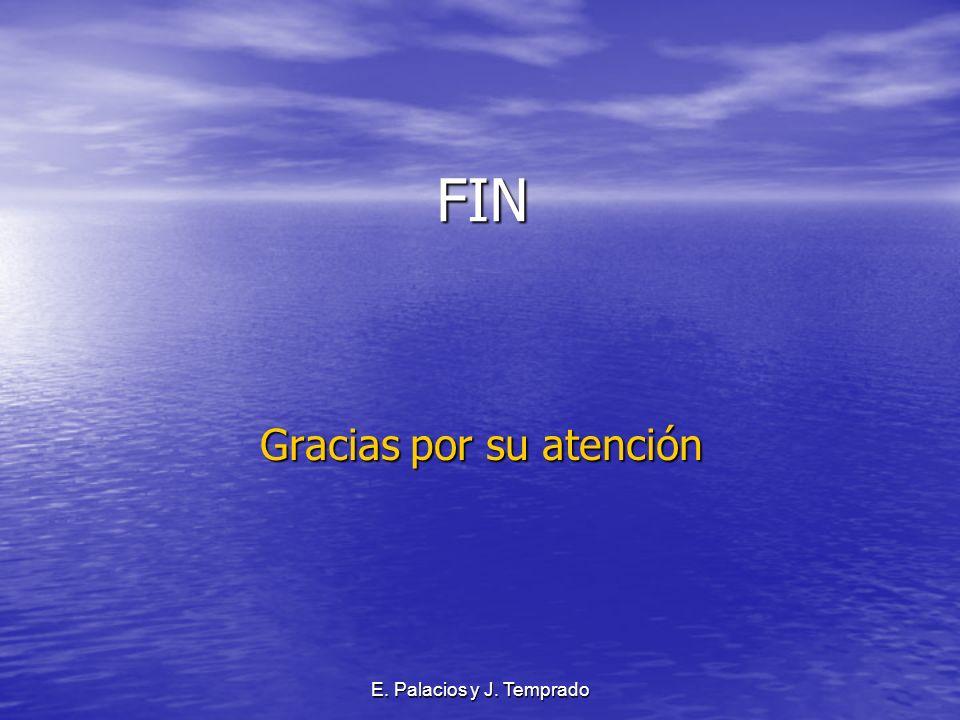 E. Palacios y J. Temprado FIN FIN Gracias por su atención