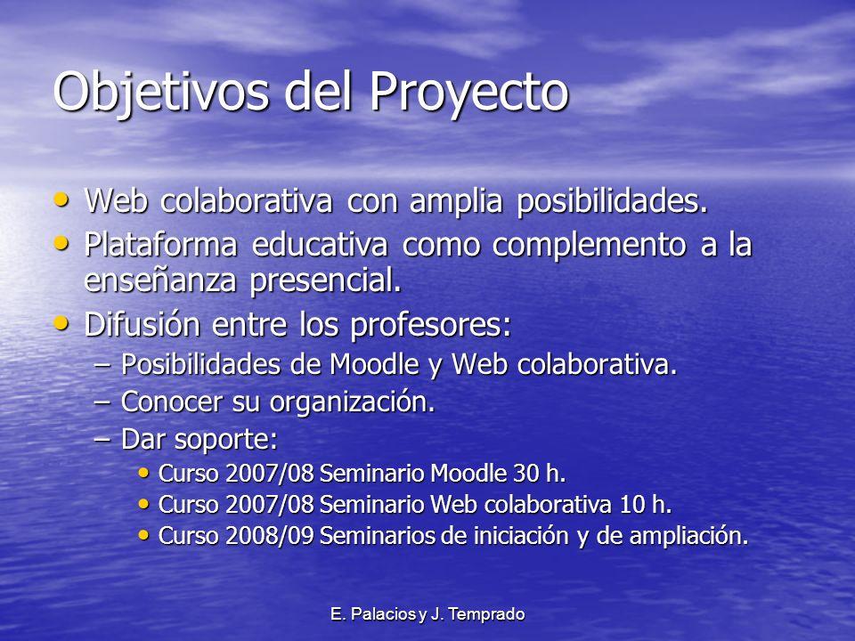 E. Palacios y J. Temprado Objetivos del Proyecto Web colaborativa con amplia posibilidades.
