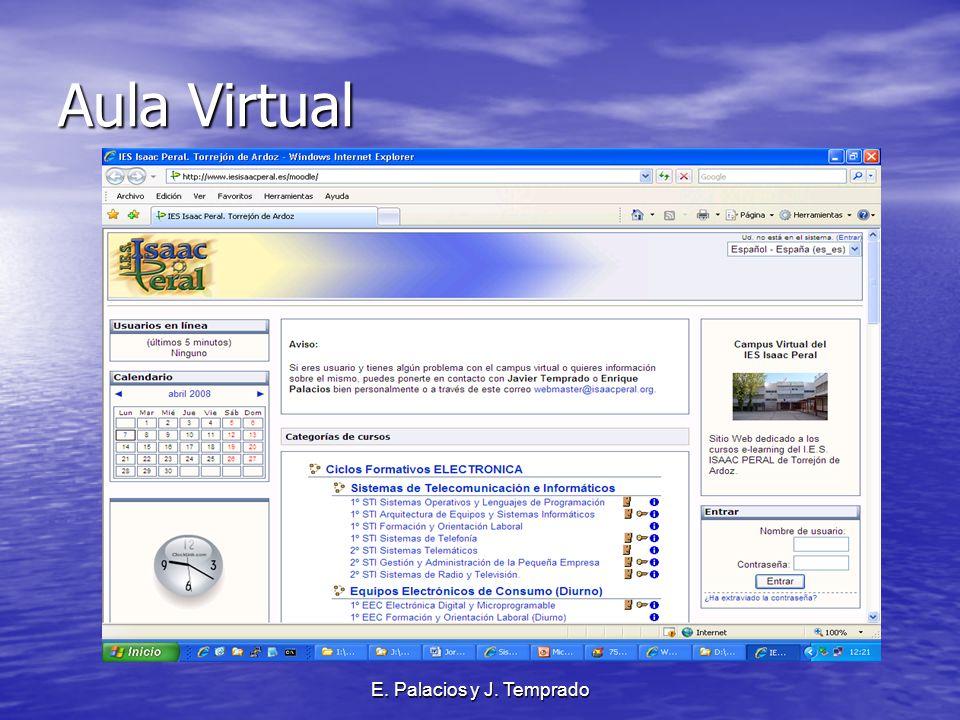 E. Palacios y J. Temprado Aula Virtual