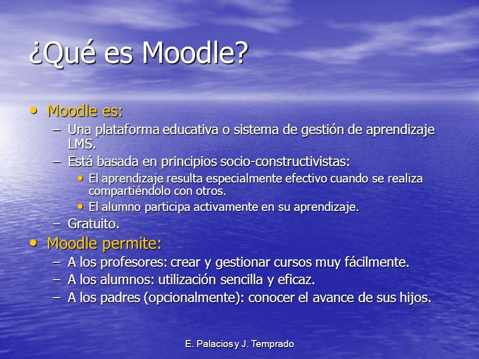 E. Palacios y J. Temprado ¿Qué es Moodle.