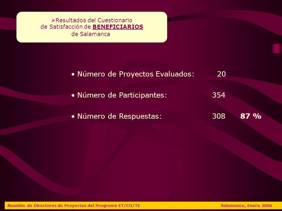 VALORACIONES DIRECTORES Reunión de Directores de Proyectos del Programa ET/CO/TE Salamanca, Enero 2006 ENTIDADES PROMOTORAS Facilitación buen funcionamiento del proyecto Recursos facilitados o contratados Medios para el Fomento de la Inserción Laboral Cumplimiento de obligaciones administrativas SALAMANCA CASTILLA Y LEÓN 7,807,64 7,827,22 6,776,81 8,828,52 MUTUA ASEGURADORA 7,247,44 SECCIÓN E.T.