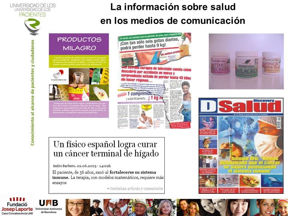La información sobre salud en los medios de comunicación