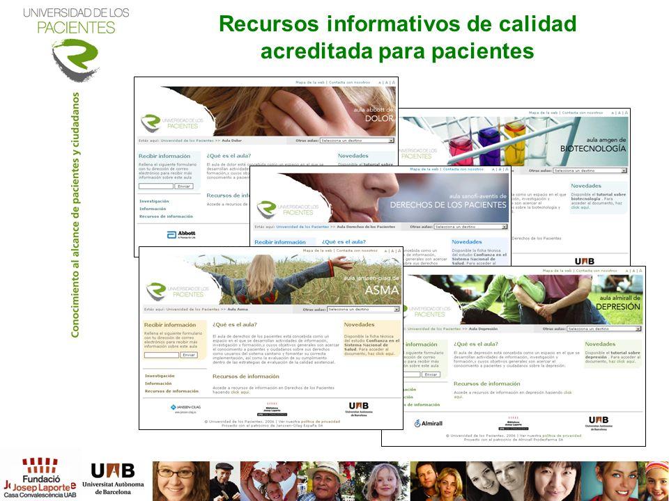 Recursos informativos de calidad acreditada para pacientes