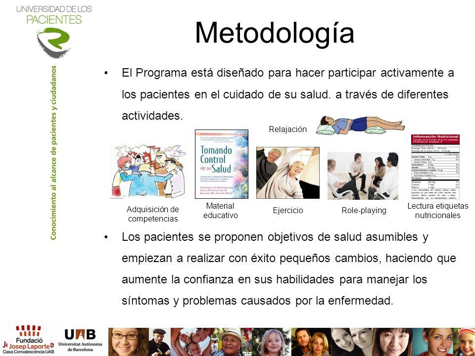 El Programa está diseñado para hacer participar activamente a los pacientes en el cuidado de su salud. a través de diferentes actividades. Los pacient