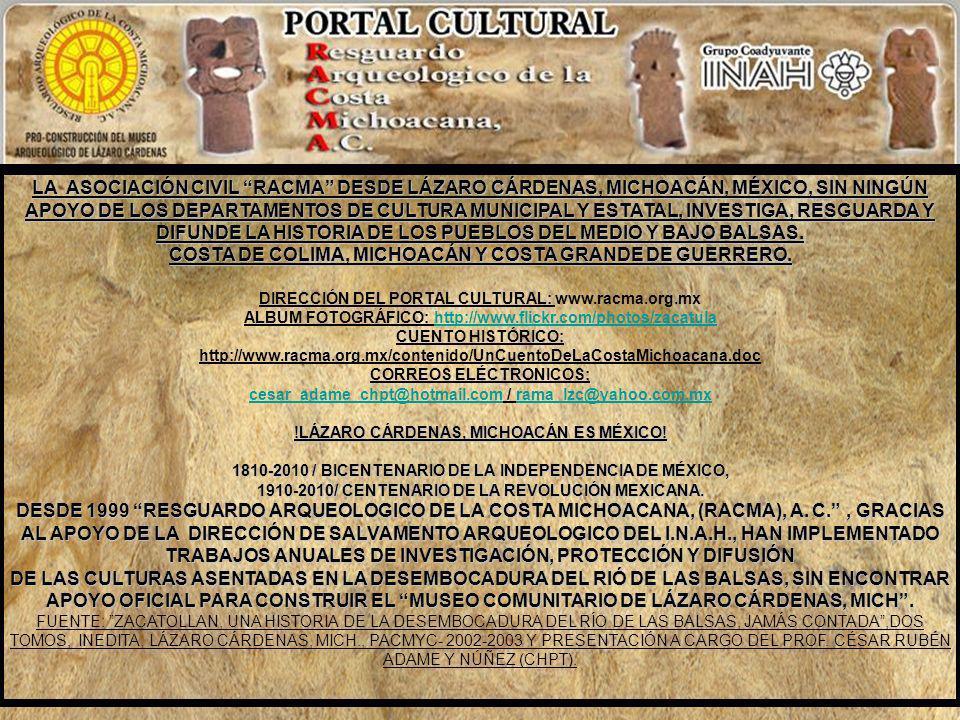 TERRENOS DE ZACATULA Y COAHUAYUTLA. En 1771 el teniente del partido, Don Juan de Izazaga, les recogió los títulos a varios propietarios, los de Zacatu