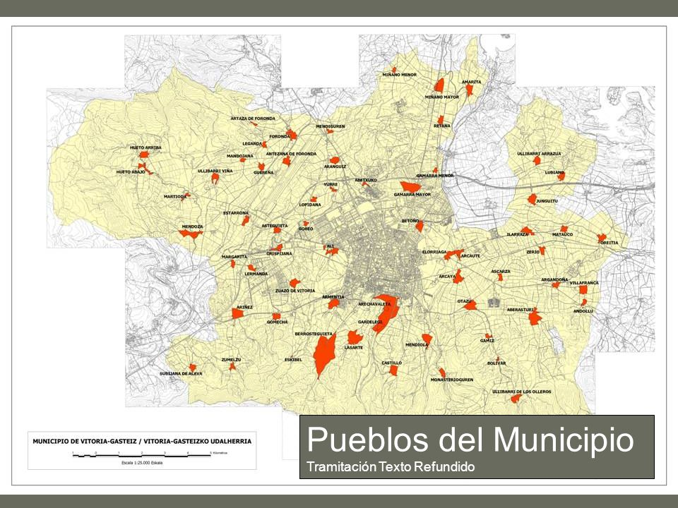 Pueblos del Municipio Tramitación Texto Refundido