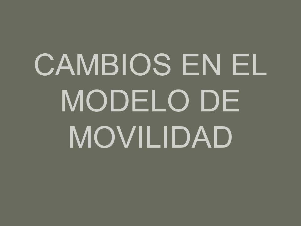 CAMBIOS EN EL MODELO DE MOVILIDAD