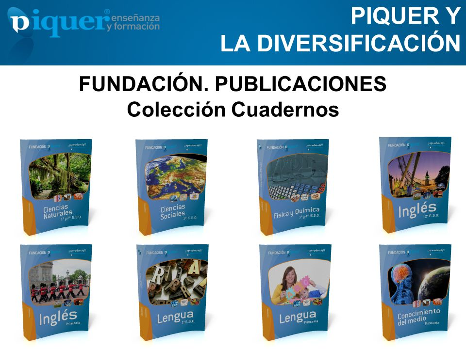 FUNDACIÓN. PUBLICACIONES PIQUER Y LA DIVERSIFICACIÓN Colección Cuadernos