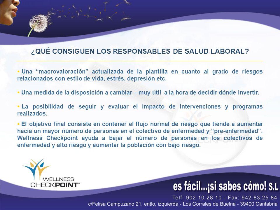 ¿QUÉ CONSIGUEN LOS RESPONSABLES DE SALUD LABORAL.