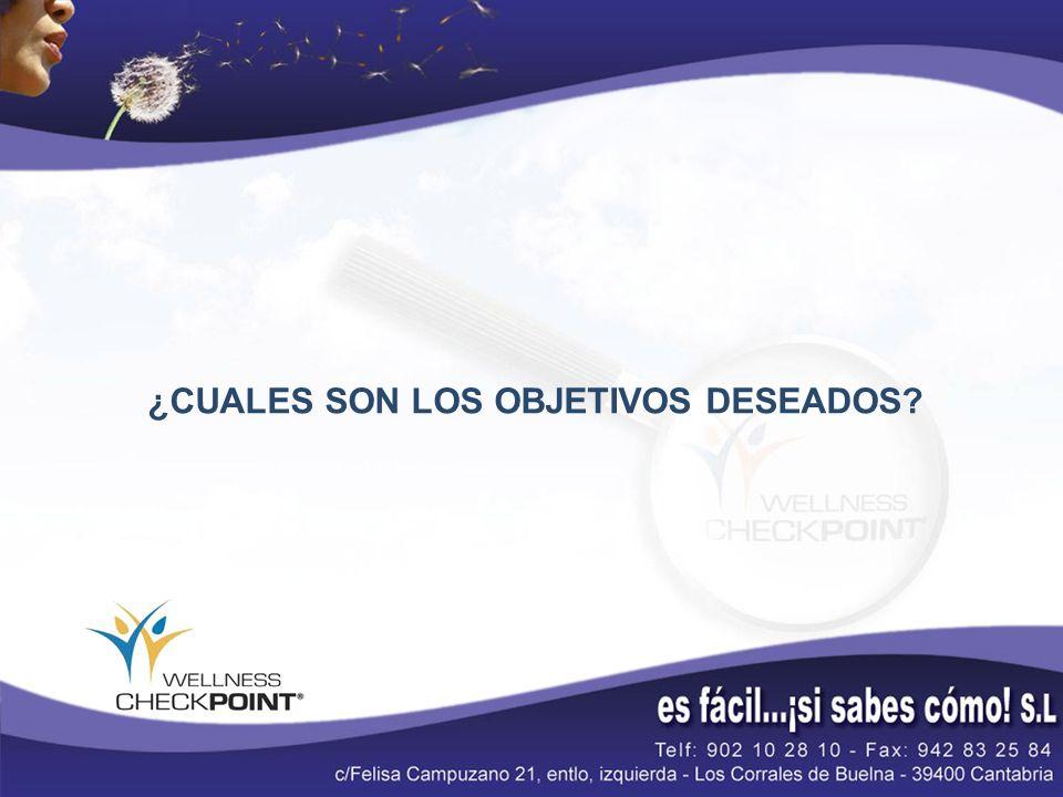 ¿CUALES SON LOS OBJETIVOS DESEADOS