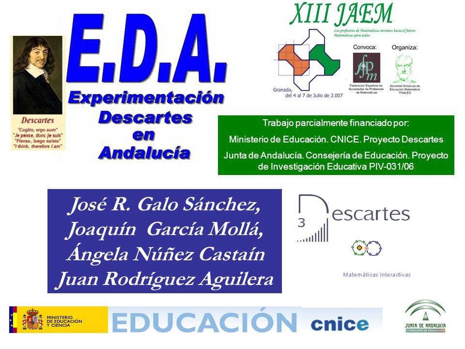 José R. Galo Sánchez, Joaquín García Mollá, Ángela Núñez Castaín Juan Rodríguez Aguilera Trabajo parcialmente financiado por: Ministerio de Educación.