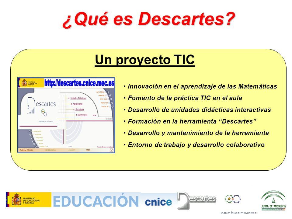 Innovación en el aprendizaje de las Matemáticas Fomento de la práctica TIC en el aula Desarrollo de unidades didácticas interactivas Formación en la h