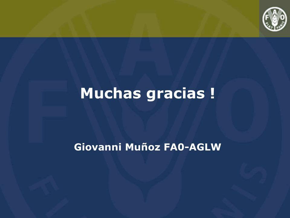 Muchas gracias ! Giovanni Muñoz FA0-AGLW
