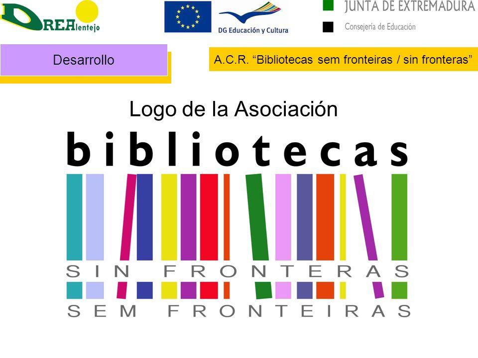 Logo de la Asociación Desarrollo A.C.R. Bibliotecas sem fronteiras / sin fronteras