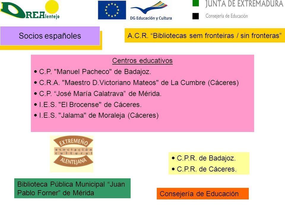 Socios españoles Centros educativos C.P. Manuel Pacheco de Badajoz.
