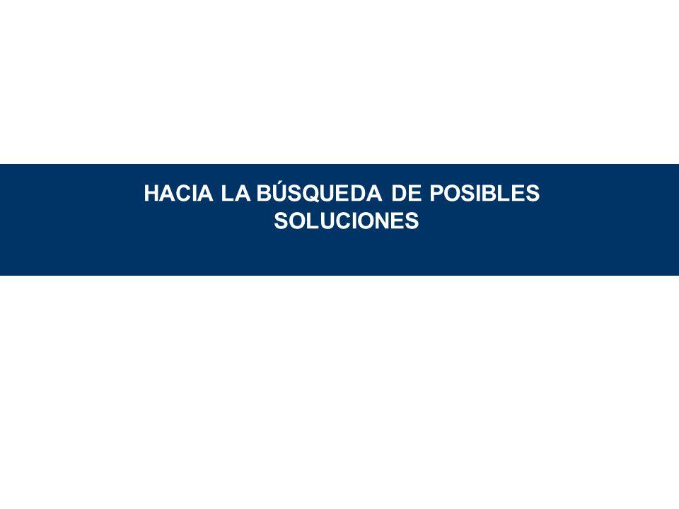 HACIA LA BÚSQUEDA DE POSIBLES SOLUCIONES