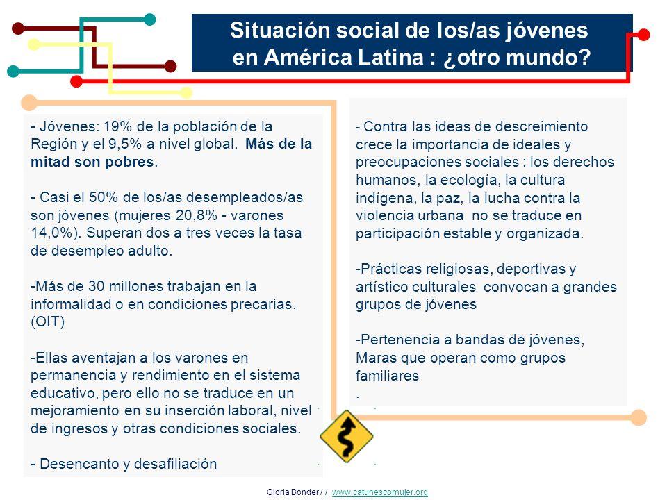 Situación social de los/as jóvenes en América Latina : ¿otro mundo.