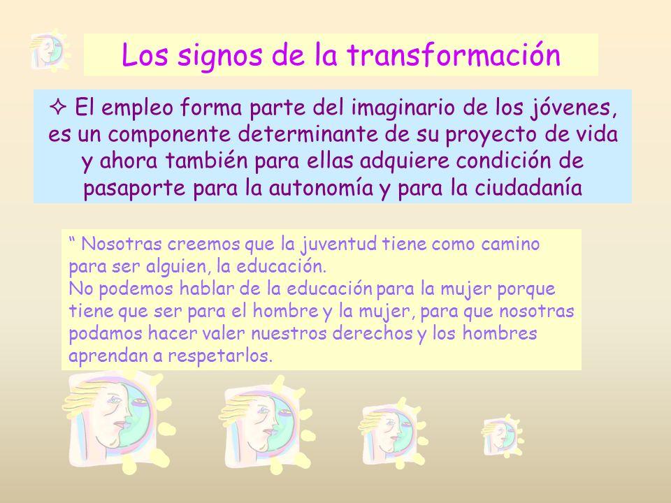 Los signos de la transformación El empleo forma parte del imaginario de los jóvenes, es un componente determinante de su proyecto de vida y ahora tamb