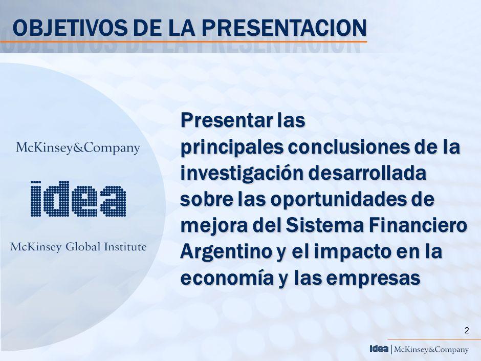 2 Presentar las principales conclusiones de la investigación desarrollada sobre las oportunidades de mejora del Sistema Financiero Argentino y el impa