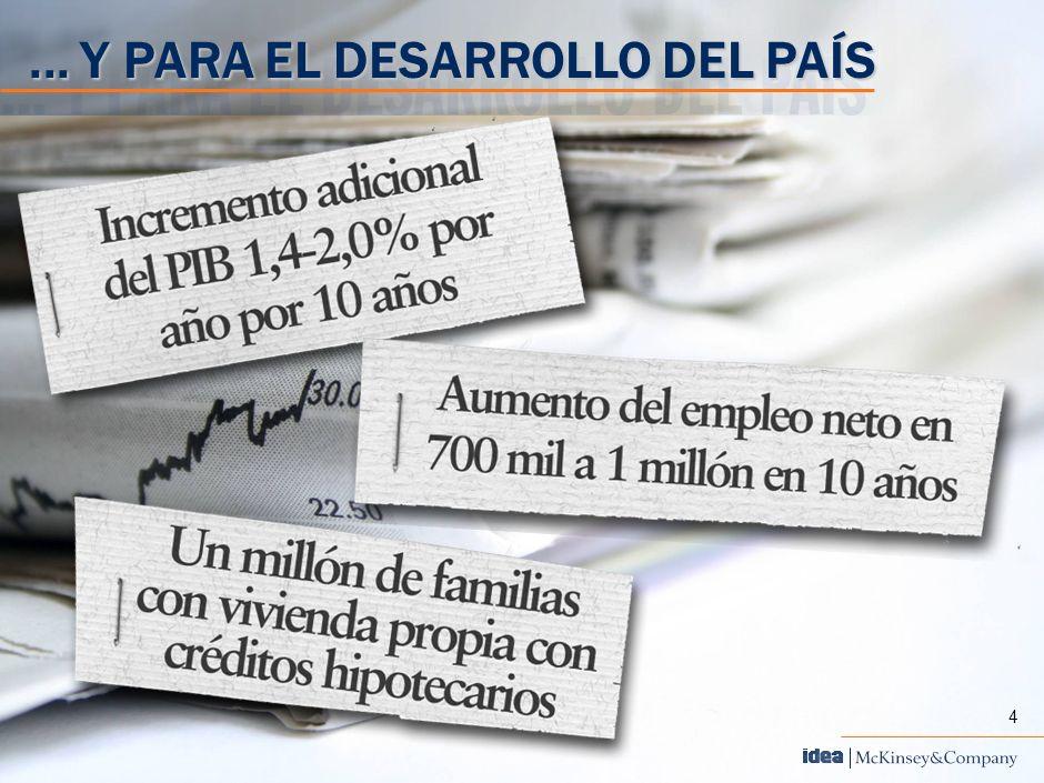 4... Y PARA EL DESARROLLO DEL PAÍS 4