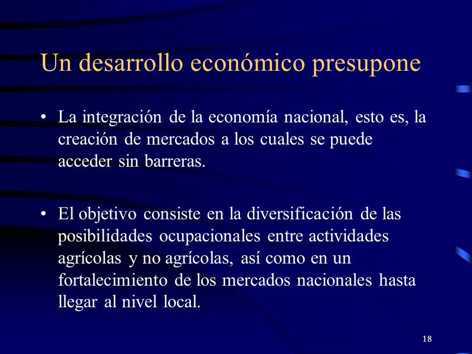17 La situación social y económica en nuestros países está caracterizada por el peligro de una creciente polarización.