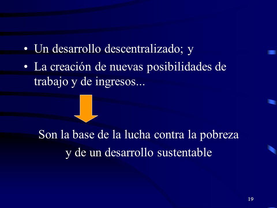 18 Un desarrollo económico presupone La integración de la economía nacional, esto es, la creación de mercados a los cuales se puede acceder sin barreras.