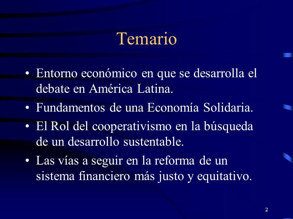 1 La Economía Solidaria: ¿Un nuevo modelo de desarrollo