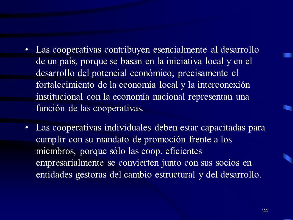 23 Planteamiento cooperativo en una Economía Solidaria En muchos países, la política actual está caracterizada por la retirada del Estado sin que los gobiernos creen, sin embargo, las condiciones marco y los requisitos para un desarrollo que se mantenga por sí solo.