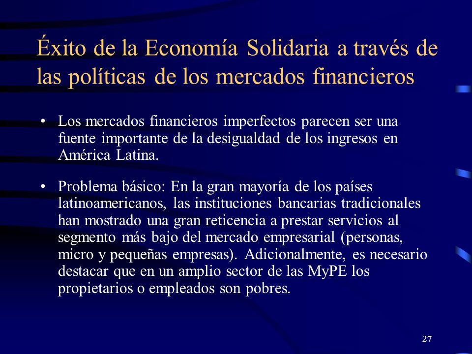 26 ¿dónde está la base del éxito de un enfoque de Economía Solidaria.