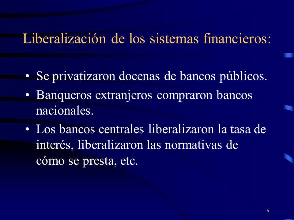 4 Proceso de liberalización notable en América Latina durante los últimos 10 años.