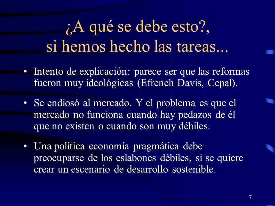 6 Es decir... No se puede decir que América Latina no ha hecho las tareas.