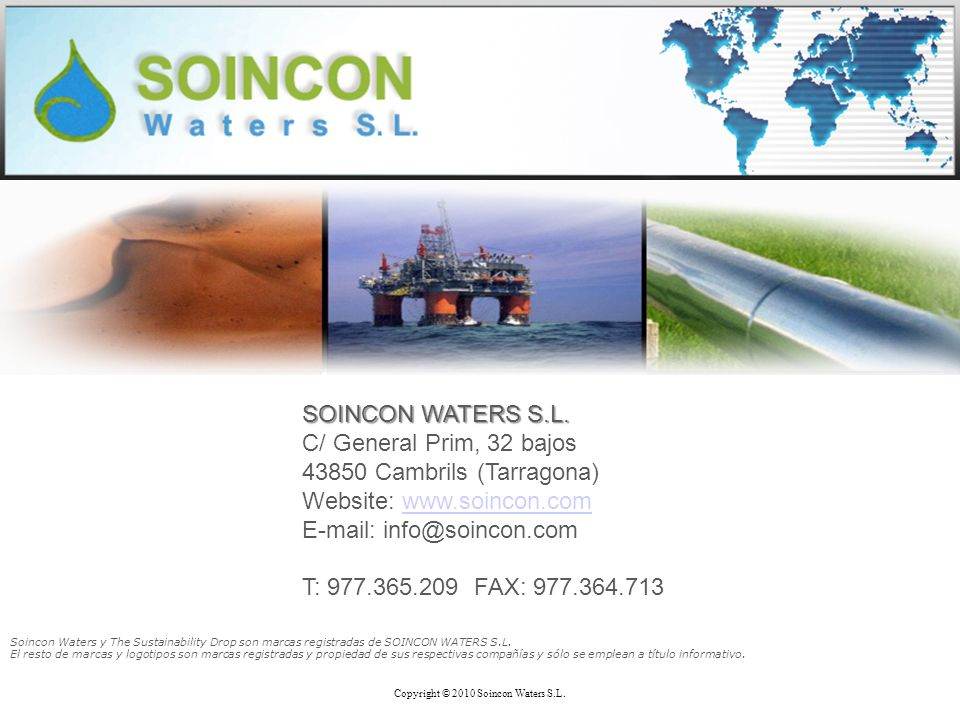 SOINCON WATERS S.L.