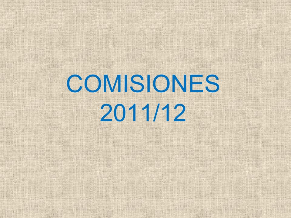 COMISIONES 2011/12