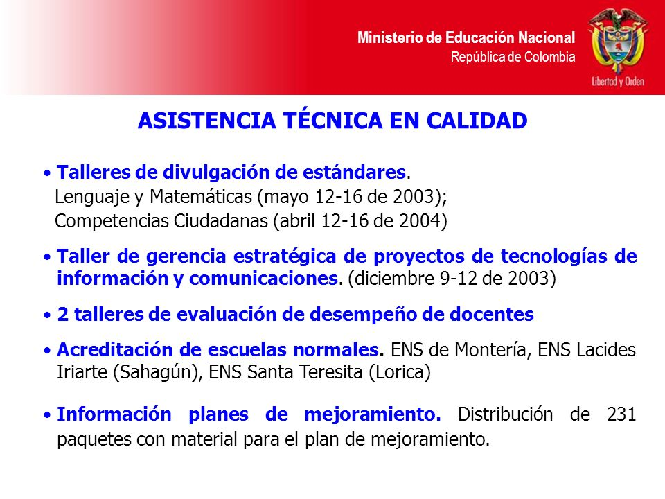 Ministerio de Educación Nacional República de Colombia Talleres de divulgación de estándares. Lenguaje y Matemáticas (mayo 12-16 de 2003); Competencia