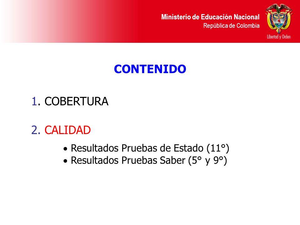 Ministerio de Educación Nacional República de Colombia Definición de estándares de calidad.