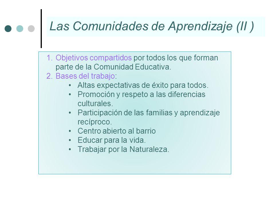 1.Objetivos compartidos por todos los que forman parte de la Comunidad Educativa. 2.Bases del trabajo: Altas expectativas de éxito para todos. Promoci