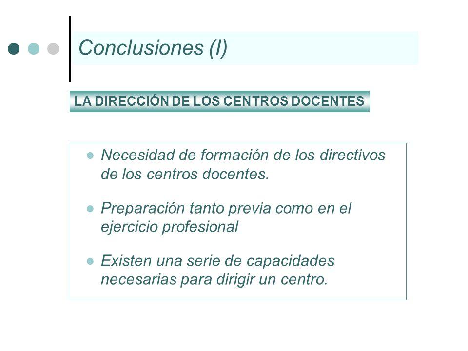 Necesidad de formación de los directivos de los centros docentes. Preparación tanto previa como en el ejercicio profesional Existen una serie de capac